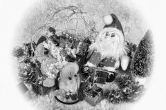 Gene Christmas e Rudolph desmoronou esgotado durante o festival do Natal Imagens de Stock Royalty Free
