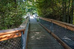 Gene Coulon Park Bridge 3 photos stock
