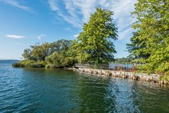 Gene Coulon Park Island. A view of a small island at Gene Coulon Park in Renton, Washington royalty free stock images