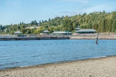 Gene Coulon Park Pavilion 3 photographie stock