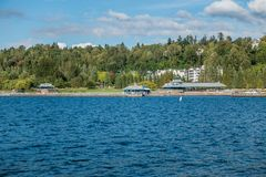 Gene Coulon Park Pavilon image stock