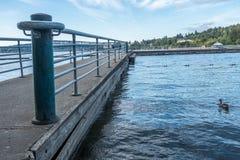 Gene Coulon Park Pier stockbild