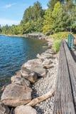 Gene Coulon Park Shoreline 2 stockbild