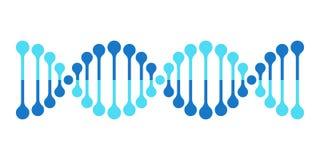 Gene dell'elica della genetica del cromosoma dell'icona di vettore del DNA illustrazione vettoriale