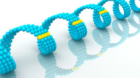 Gene in DNA. 3d Royalty Free Stock Image