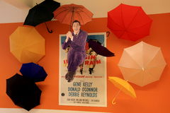 Gene Kelly's 'Singing in the rain' exhibit, National Museum of Dance and Hall of Fame,Saratoga,New York,2015 Stock Photos