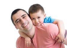 Gene o desafio de seu filho da criança com expressões engraçadas imagem de stock