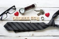 Gene o presente do dia do ` s e o ` do dia do pai do ` da palavra Fotos de Stock Royalty Free