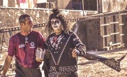 Gene Simmons cosplay w Hellfest festiwalu Fotografia Royalty Free