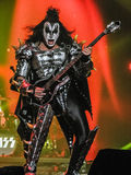 Gene Simmons of Kiss Playing Bass Royalty Free Stock Photography