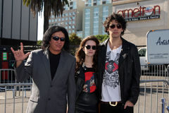 Gene Simmons, Nick Simmons Royalty Free Stock Images