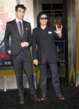 Gene Simmons and Nick Simmons Royalty Free Stock Photos