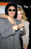 Gene Simmons and Shannon Tweed Royalty Free Stock Photo