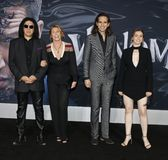 Gene Simmons, Shannon Tweed, Nick Simmons and Sophie Simmons royalty free stock photography