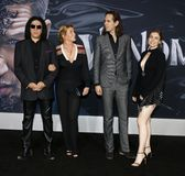 Gene Simmons, Shannon Tweed, Nick Simmons and Sophie Simmons stock images