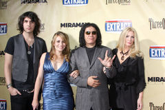 Gene Simmons,Shannon Tweed,Sophie Simmons Stock Images