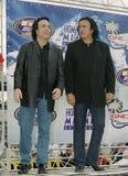 Gene Simmons und Paul Stanley vom KUSS lizenzfreies stockfoto