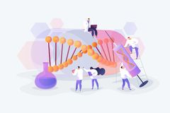 Free Gene Therapy Concept Vector Illustration Royalty Free Stock Photos - 153841548