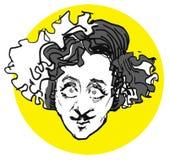 Gene,wilder caricature's. Gene,wilder frankenstein young - actor Royalty Free Stock Image