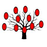 Genealogical tree for different generations stock illustration
