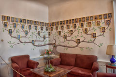 Genealogical tree of the genus on the wall Stock Photo