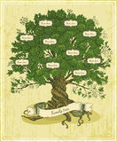 Genealogical Tree On Old Paper Background. Royalty Free Stock Photo