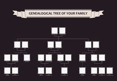 Genealogical tree of your family. Calligraphic Royalty Free Stock Photos