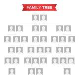 Genealogicznego drzewa pustego miejsca wektor Historii Rodziny drzewo Z brak ikonami ludzie royalty ilustracja