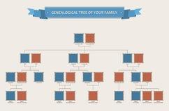 Genealogiczny drzewo twój rodzina z bezels Fotografia Stock
