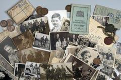 Genealogie - Familiegeschiedenis - Oude familiefoto's stock afbeelding