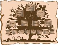 Genealogische boom royalty-vrije illustratie