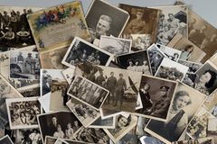 Genealogy - Family History - Old family photographs. Genealogy - Family History - Old British family photographs dating from around 1890 up to about 1950 royalty free stock image