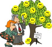 Genealogy Tree Stock Photo