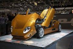 Genebra Motorshow 2009 - Spyker C8 Imagens de Stock