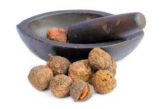 Geneeskrachtige amal van ayurvedic vruchten stock afbeeldingen