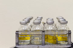 Geneeskrachtige flessenkant Stock Afbeelding