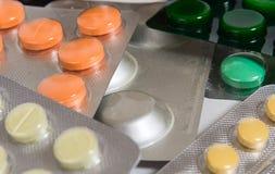 Geneeskrachtige tabletten stock afbeelding