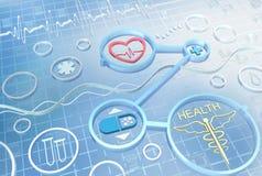 Geneeskunde - abstracte achtergrond Stock Foto