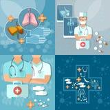 Geneeskunde arts in het ziekenhuistherapeut die x-ray vlakke reeks in werking stellen Royalty-vrije Stock Afbeelding