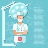 Geneeskunde de werkende ruimteconcept van de artsen professioneel chirurg Royalty-vrije Stock Foto's