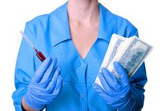 Geneeskunde en geld Stock Afbeelding