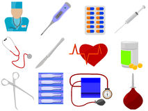 Geneeskunde en gezondheid stock illustratie