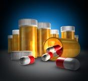 Geneeskunde en Medicijn stock illustratie