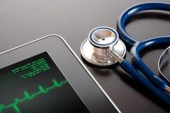 Geneeskunde en nieuwe technologie stock foto's