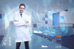 Geneeskunde en toekomstig concept Stock Foto's