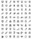 Geneeskunde & Heath Care-pictogrammen Stock Afbeeldingen