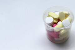 geneeskunde op een witte achtergrond Stock Afbeelding