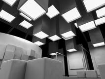 geneeskunde, open plek, schone ruimte met vormen in 3d, business spa royalty-vrije illustratie