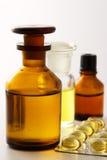 Geneeskunde-pillen en mengsels. Stock Foto