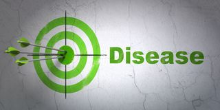 Geneeskundeconcept: doel en Ziekte op muurachtergrond Royalty-vrije Stock Afbeeldingen